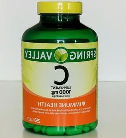 1 BOTTLE!!! Spring Valley - Vitamin C1000 mg, 250 Tabs Exp 1