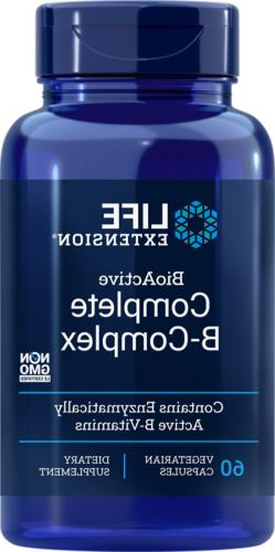 Life Extension BioActive Complete B-Complex 60 Capsules