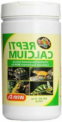 Zoo Med Reptile Calcium with Vitamin D3, 12-Ounce