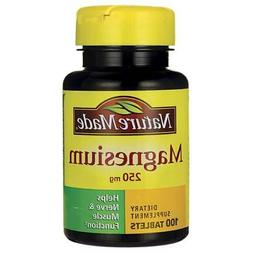 Nature Made Mineral Supplements Magnesium 250 mg Tablet 100c