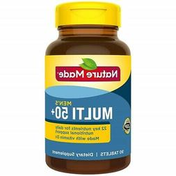 Nature Made Multivitamin for Men Over 50 Plus with Vitamin D