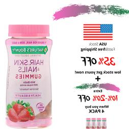 Natures Bounty, Optimal Solution Hair Skin Nails, Strawberry