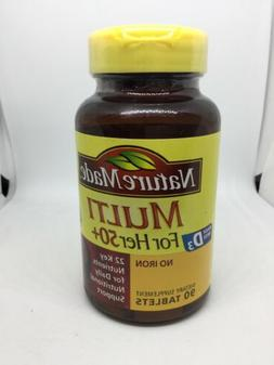 Nature Made Multi For Her 50+ Vitamin & Mineral Tabs, 90 ct