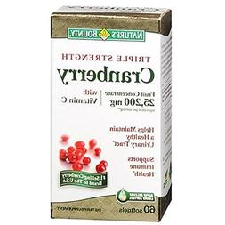 Natures Bounty Triple Strength Cranberry 25,200mg with Vitam